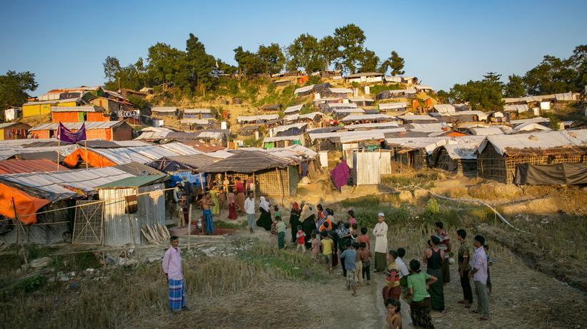Vereinte Nationen: Ein Flüchtlingscamp in Bangladesch. Insgesamt sieben Millionen Migranten weltweit kommen aus dem südasiatischen Land.