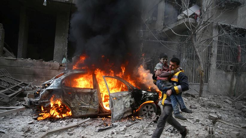 Syrien: 18 Tote bei Luftangriffen in Ost-Ghouta