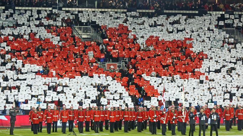 """""""O Canada"""": In Kanada hat die Nationalhymne einen besonderen Status: Sie wird vor allen offiziellen Veranstaltungen gesungen."""