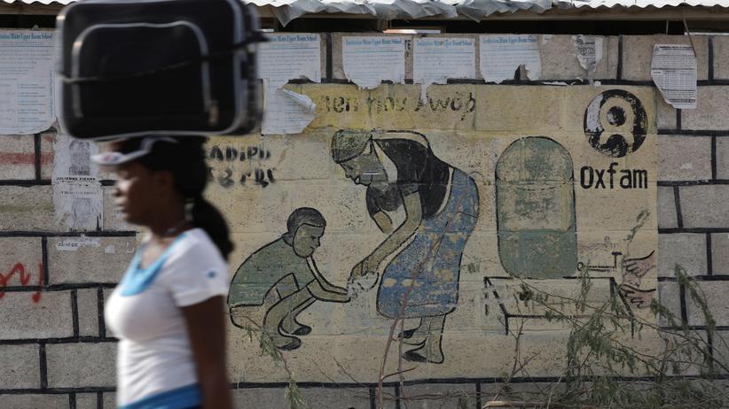 Oxfam: In Corail, einem Camp für Vertriebene in den Außenbezirken der haitianischen Hauptstadt Port-au-Prince