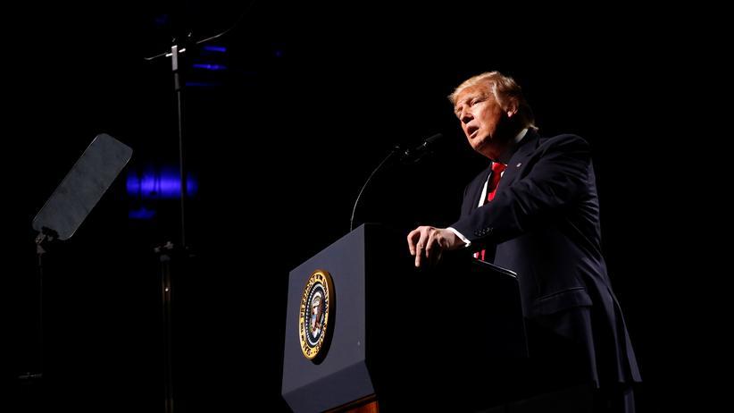 Donald Trump hält eine Rede bei der NRA.