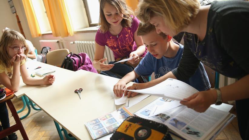 Belohnungen: Klassenraum in einer Schule in Seifhennersdorf.