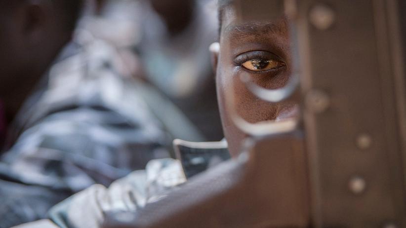 Südsudan: Ein Kind während einer Feier für befreite Kindersoldaten im Februar 2018 in Yambio, Südsudan