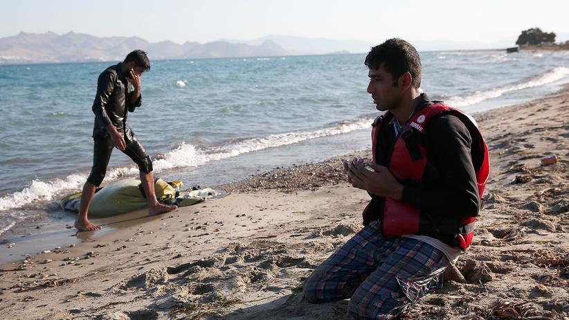 Griechenland: Ein Pakistani kommt im Sommer 2015 auf der griechischen Insel Kos an.