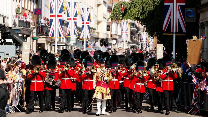 Windsor: Ein bisschen Marschmusik für Prinz Harry und Bald-Ehefrau Meghan Markle in Windsor