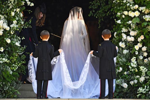 Meghan Markles Hochzeitskleid: Meghan Markle bei ihrer Ankunft