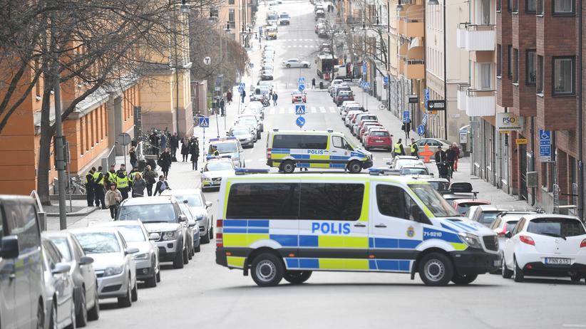 Schweden: Polizei in Stockholm nach dem Anschlag