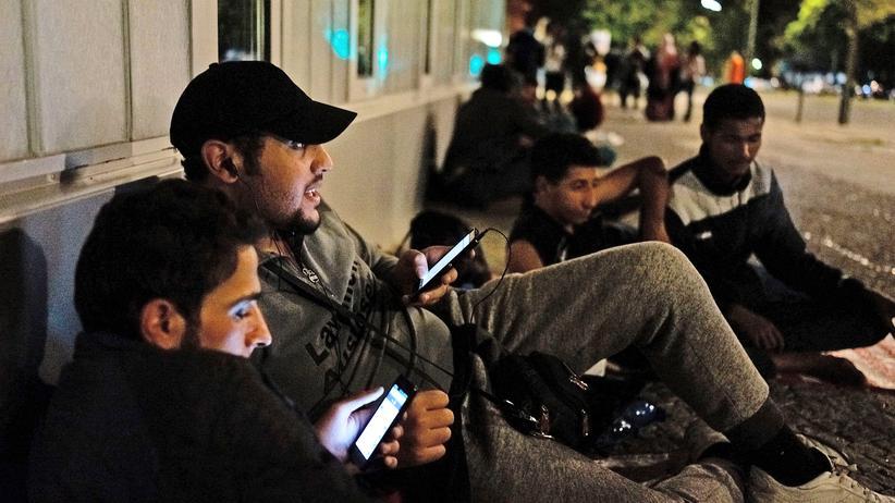Syrer in Deutschland: Zwei syrische Flüchtlinge in Berlin