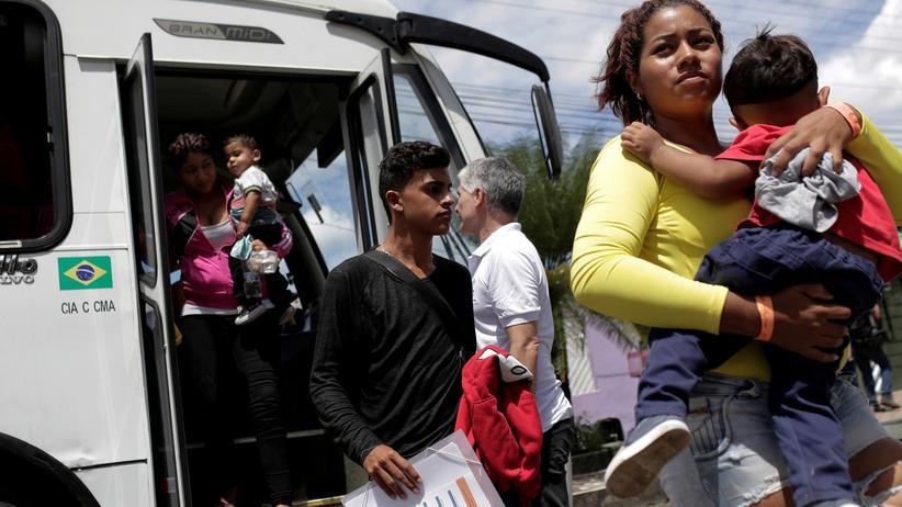 Brasilien: Knapp 60.000 Venezolaner haben wie diese Frau Bleiberecht in Brasilien beantragt, seit 2017 die Krise in Venezuela ausbrach.