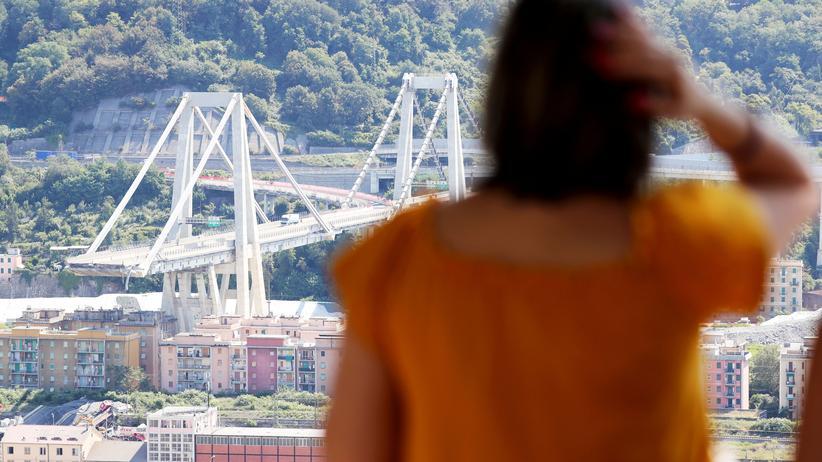 Brückeneinsturz in Genua: Experten vermuten gerissenes Tragseil als Unglücksursache