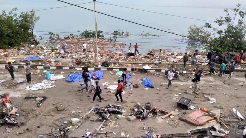 Indonesien: Trümmer in Palu auf Sulawesi