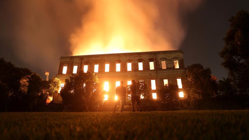 Brasilien: Großbrand zerstört Nationalmuseum in Rio de Janeiro