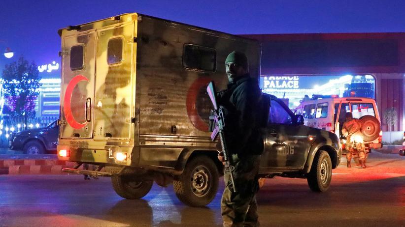 Afghanistan: Ein afghanischer Polizist in Kabul.