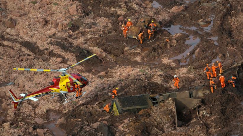 Brasilien: Rettungsarbeiten in Brumadinho nach dem Lawinenabgang