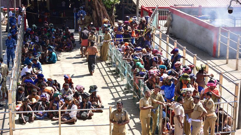 Indien: Millionen Frauen demonstrieren für Zugang zu Hindu-Tempel