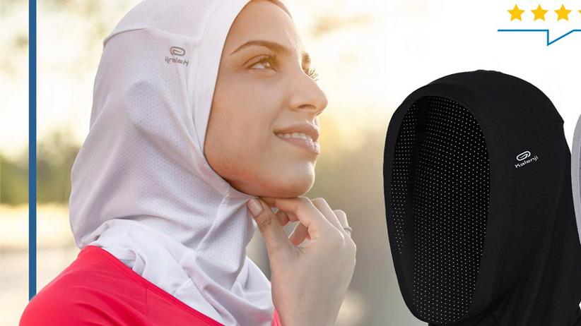Decathlon: So warb Decathlon für den Sport-Hidschab für potenzielle Kundinnen in Marokko.