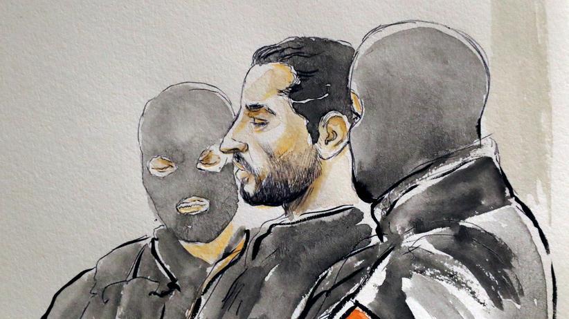 """""""Islamischer Staat"""": Gerichtszeichnung von Mehdi Nemmouche"""