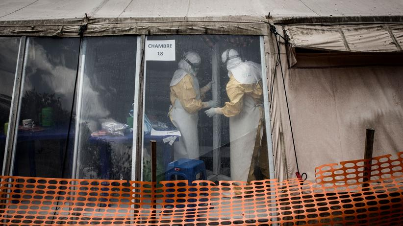 Kongo: Ärzte in der Ebola-Klinik in Butembo, die am 9. März 2019 zum dritten Mal überfallen wurde.
