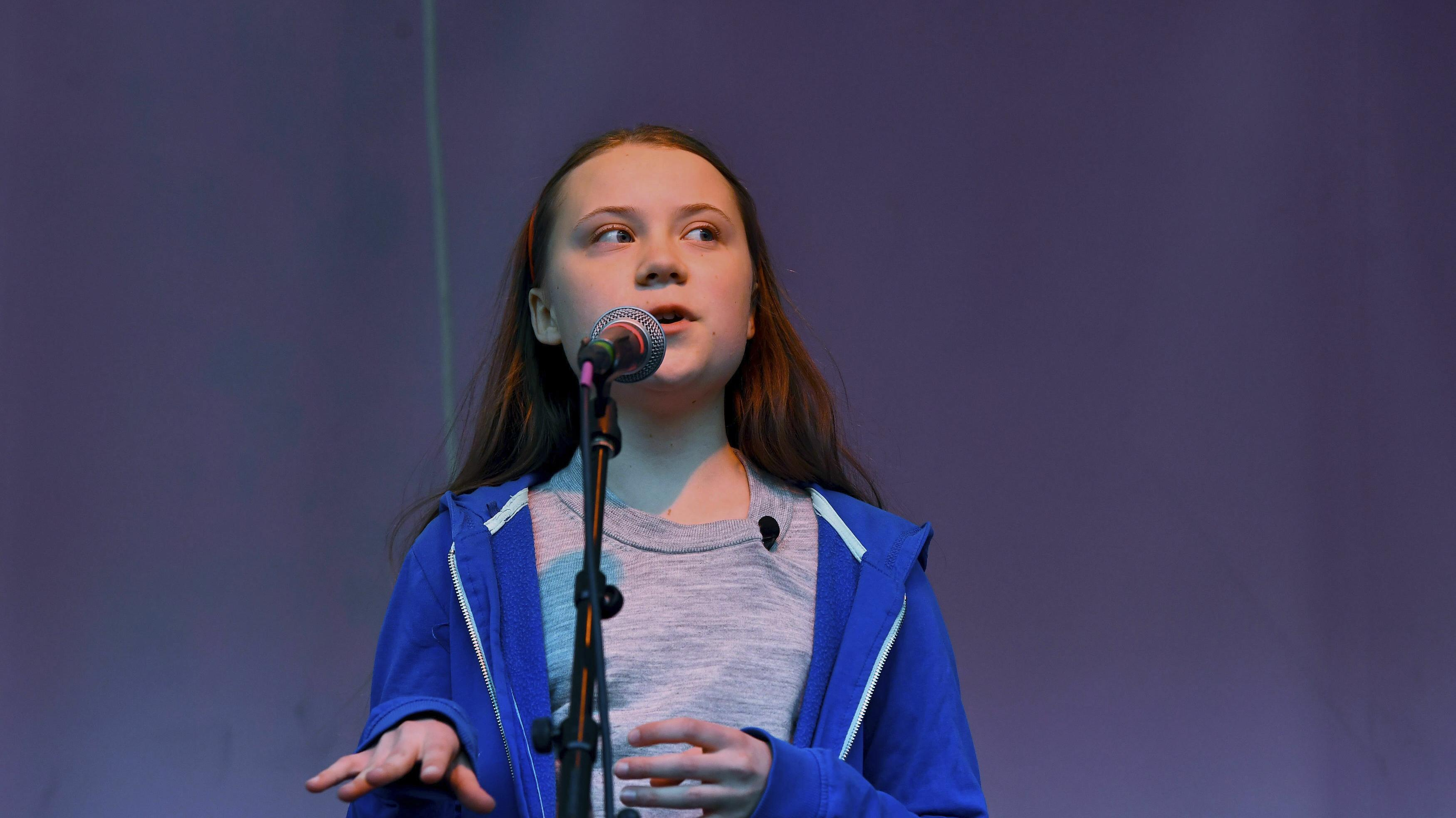 Greta Thunberg in London empfangen