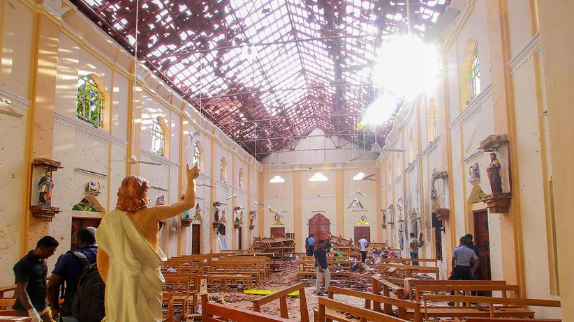 Terrorism: A church in Negombo, one of the targets of the series of attacks on Sunday in Sri Lanka