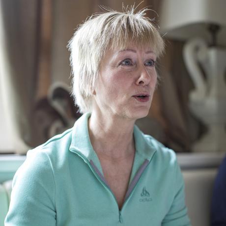 Tschechien: Iris Gutmann während des Gesprächs.
