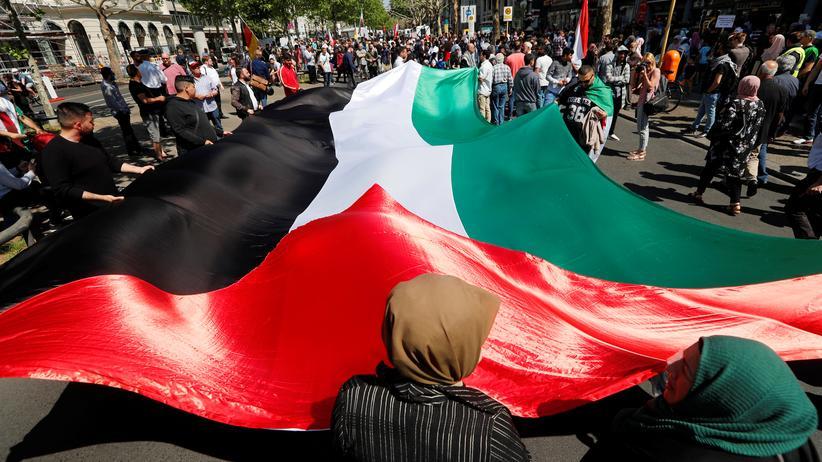 Berlin: Al-Kuds-Demonstration mit weniger Teilnehmern als erwartet