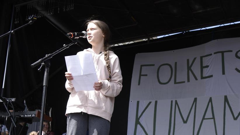 Klimaaktivistin: Die schwedische Klimaaktivistin Greta Thunberg auf dem People's Climate March in Kopenhagen.