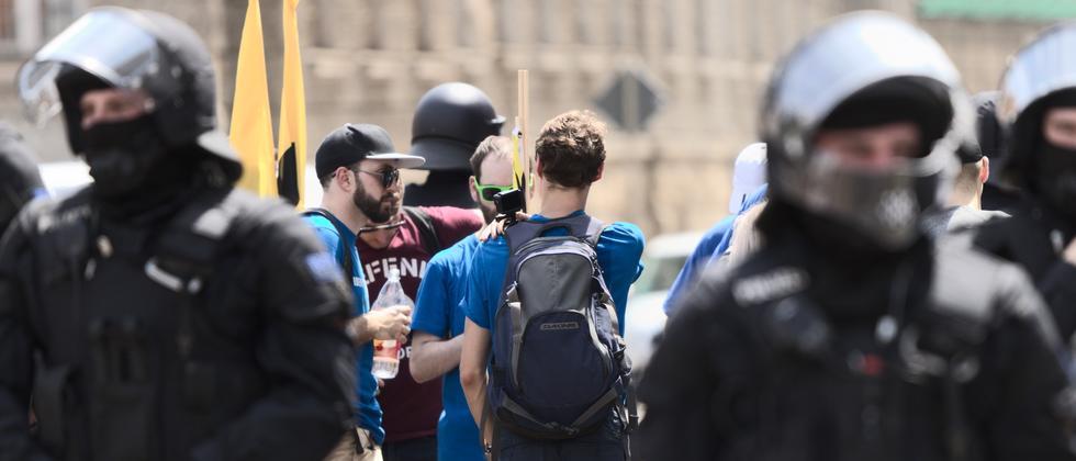 Rechtsextremismus: Identitäre scheitern an Protest