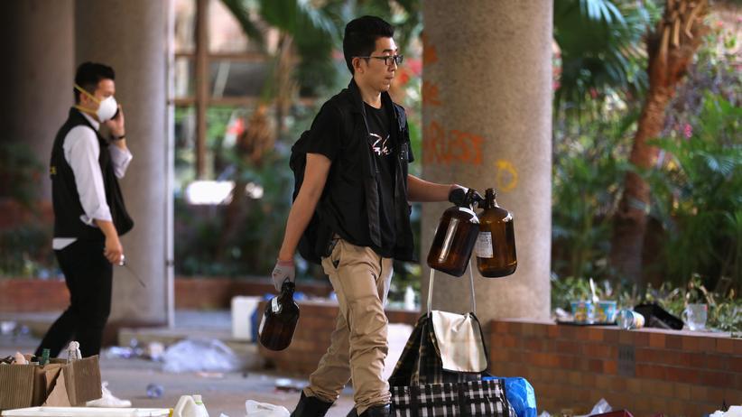 Hongkong: Polizei beendet Einsatz auf Universitätscampus