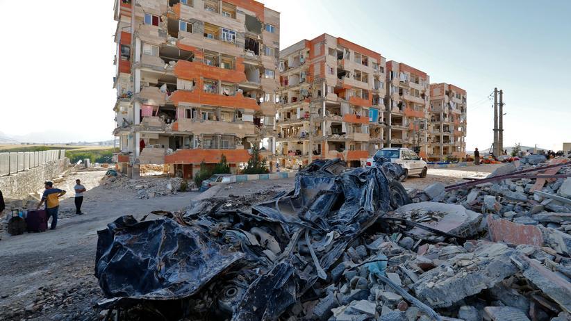 Iran: Zahlreiche Häuser wurden bei einem schweren Erdbeben im November 2017 zerstört. Im Iran kommt es regelmäßig zu Erdstößen. Bei dem Beben im November 2017 starben über 600 Menschen.