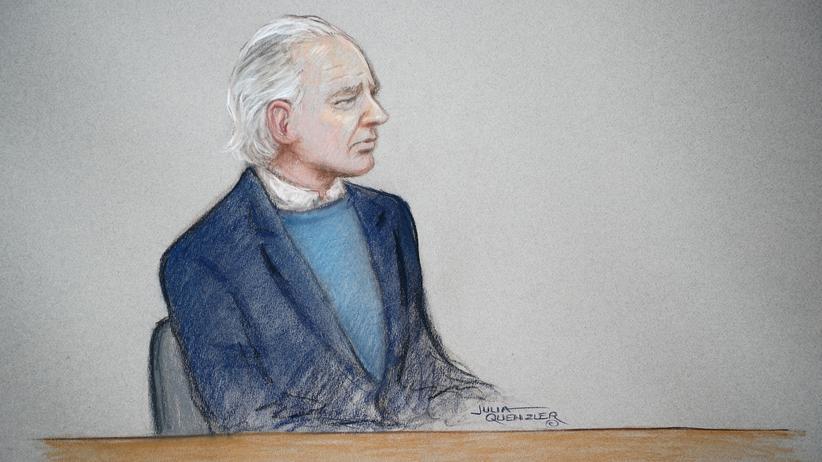 WikiLeaks-Gründer: Eine Gerichtszeichnung zeigt den WikiLeaks-Gründer Julian Assange bei einer Anhörung im Oktober.