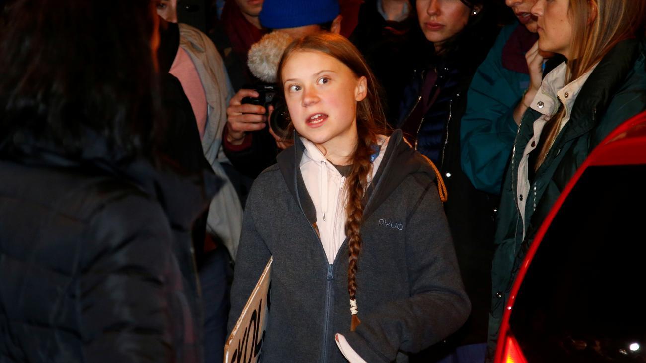 Klimakonferenz: Greta Thunberg protestiert beim Klimamarsch in Madrid