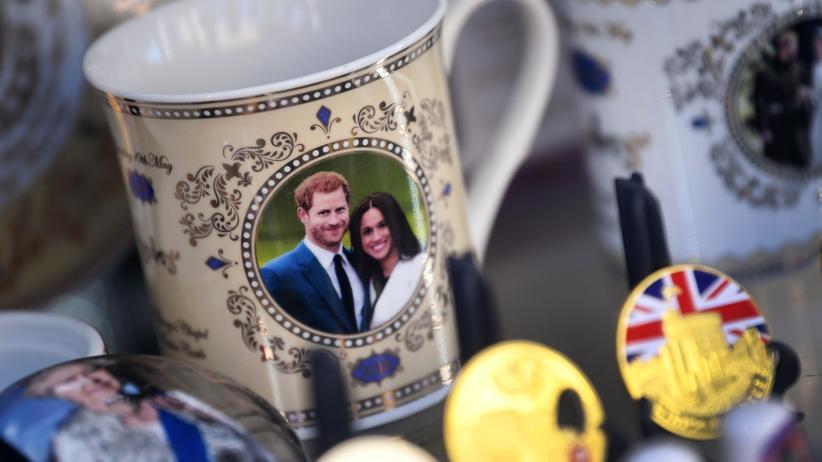 Britisches Königshaus: Merchandise-Artikel des britischen Prinzen Harry und seiner Frau Meghan (Archivbild)