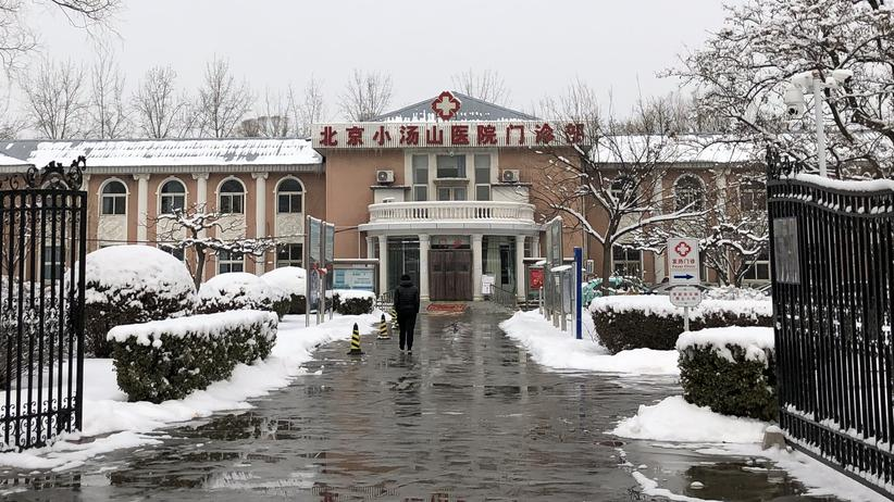 Coronavirus in Peking: 2003 wurden in diesem Krankenhaus in Peking SARS-Patienten behandelt – jetzt wird auf dem Gelände ein neues Spital für Corona-Patienten hochgezogen.