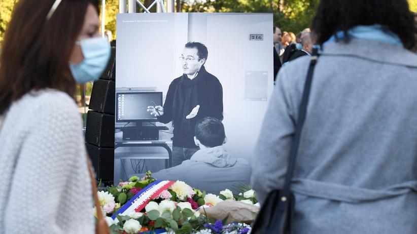 Islamistischer Terrorismus: Frankreich gedenkt des ermordeten Lehrers Samuel Paty