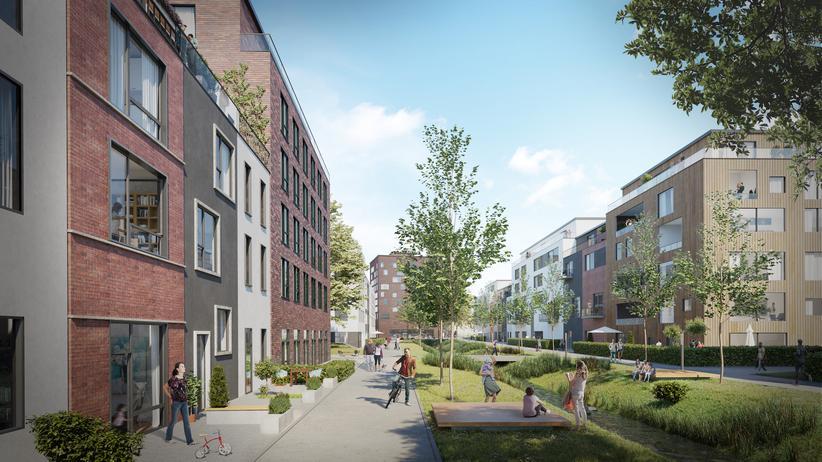 Hamburg-Wilhelmsburg: So stellt sich die Stadtentwicklungsbehörde das neue Gesicht des Viertels vor. Wer das nördliche Wilhelmsburg heute vor Augen hat, wird es in gut zehn Jahren nicht mehr wiedererkennen.