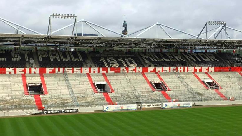 Im Millerntorstadion des FC St. Pauli