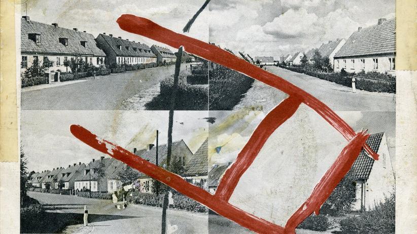 """Alfred Hilsberg: ZickZack-Künstler: Cover von """"Rote Lichter/Macht mich glücklich wie nie"""", der ersten Single von Palais Schaumburg aus dem Jahr 1980"""