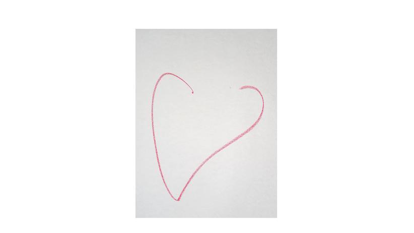 Kunst: Schüchtern oder selbstbewusst? Eine gemaltes Herz verrät viel über den Charakter, glaubt Tankred Tabbert