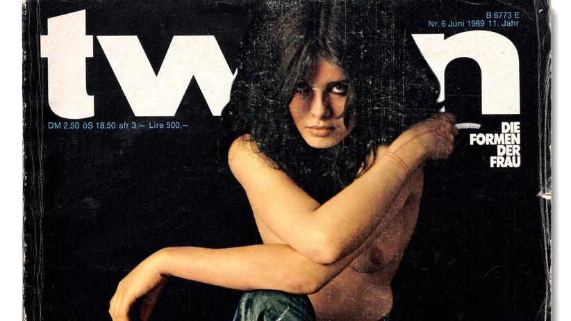 """Willy Fleckhaus: Uschi Obermaier auf dem Cover des """"twen""""-Magazins von 1969"""