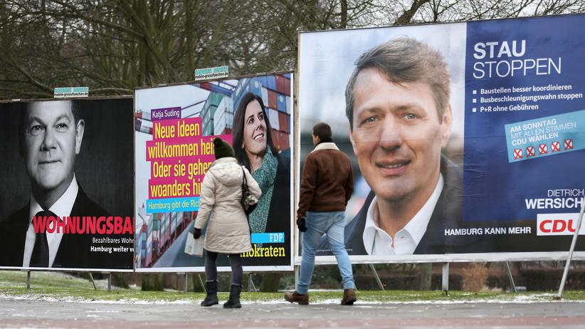 Wahlplakate in Hamburg