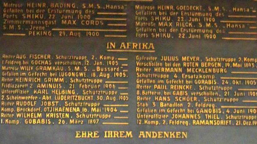Gedenktafel in der Hamburger St. Michaelis-Kirche
