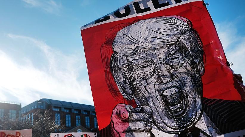 Populismus: Der US-Präsident ist der mächtigste Populist der Welt: Anti-Trump-Demo (New York)