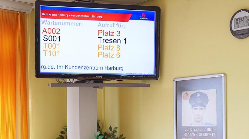 Im Bezirksamt von Hamburg-Harburg