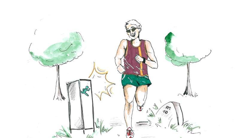 Alster-Jogger: Der Jogger an der Alster, eine umsorgte Spezies.