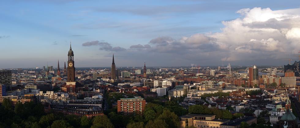 Stadtansicht von Hamburg