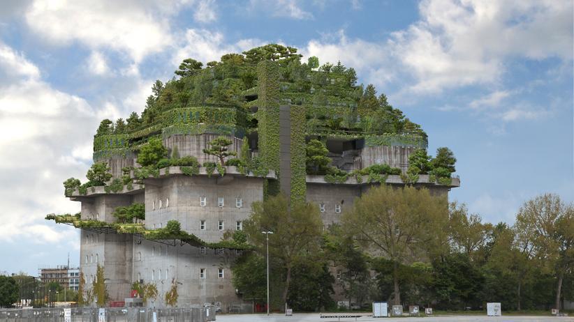 Feldstraßen-Bunker: Grün: Mit diesem Entwurf werben die Anhänger des Bunker-Aufbaus.