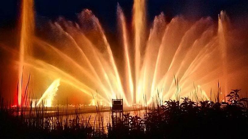 »Wasserlichtshow in Planten un Blomen«