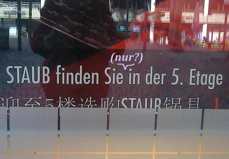 In diesem Kaufhaus am Gerhart-Hauptmann-Platz herrscht aber wirklich Ordnung