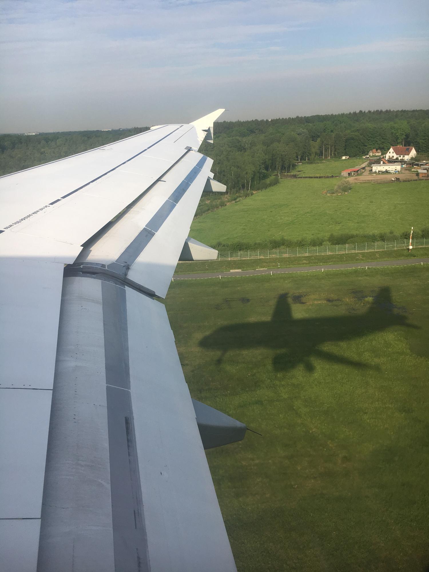 Landeanflug in Hamburg